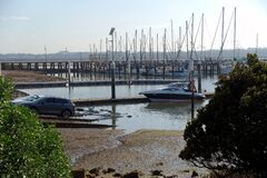 Early morning boat launching at Hastings