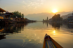 Early Morning Boating, Dal Lake Stock Image