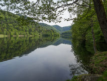 Early morning calm on lac du Kruth-Wildenstein Stock Images