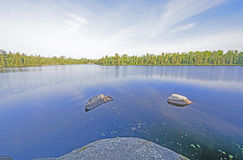 Early Morning Calm in the North Woods Stock Images