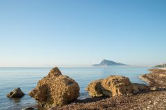 Sunny Altea bay Stock Images