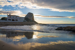 Early morning in Calpe beach Stock Photography