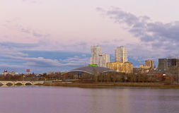 Early morning in the centre of the city of Chelyabinsk. Stock Image