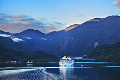 Early morning in the Chilean fjord Royalty Free Stock Images