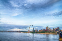 Early morning Cityscape of St. Louis Stock Image