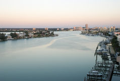 Early morning of clearwater at tampa Royalty Free Stock Image