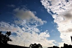 Early morning clouds Royalty Free Stock Photography