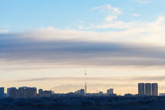 Early morning cloudscape over city park Royalty Free Stock Photography