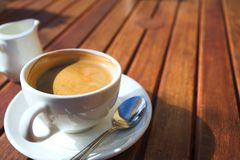 Early morning coffee royalty free stock photo