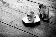 Early Morning Coffee Monochrome Royalty Free Stock Image
