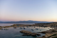 Early morning colors over Ano Koufonisi island, Cyclades. Greece Stock Images