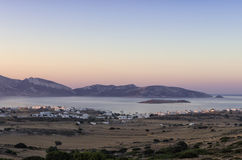 Early morning colors over Ano Koufonisi island, Cyclades. Greece Royalty Free Stock Photos
