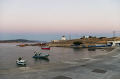 Early morning colors over Ano Koufonisi island, Cyclades. Greece Stock Photos