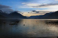 Early morning on Como lake Royalty Free Stock Photos