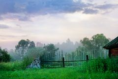 Early morning in the countryside. landscape Royalty Free Stock Image