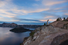 Early Morning at Crater Lake Stock Photos