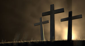 The Early Morning Crucifixion Stock Photography