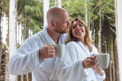 Early morning cup of coffee Royalty Free Stock Image