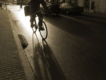 Early morning cyclist Stock Photos