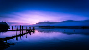 Early morning on Derwentwater, England Stock Images