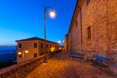 Early morning in Diano D'Alba, Italy. Royalty Free Stock Photo