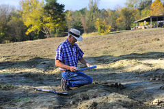 Early Morning Digging stock photography