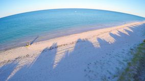 Dawn aerial view of South Australian beach with sun rising over Adelaide. Early morning drone aerial view of South Australian beach with sun rising over Adelaide Stock Photography