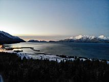 First light of day in Alaska royalty free stock photo