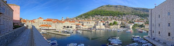 Early morning at Dubrovnik Harbor royalty free stock images