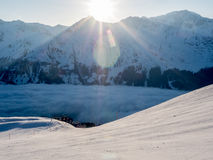Early morning on an empty ski slope - 2 Stock Photography