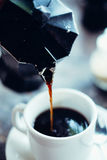 Early morning espresso. Coffee for good start of a day Royalty Free Stock Image