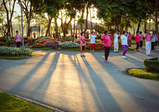 Early morning exercise in Bangkok park. Stock Image
