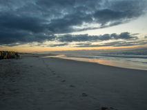 Early morning on False Bay beach in South Africa Stock Photos