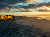 Early morning on False Bay beach in South Africa - 1 Royalty Free Stock Images