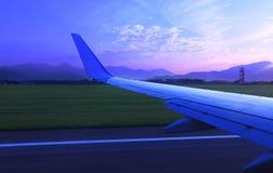 Early morning flight. Bergamo, Italy. Stock Photo