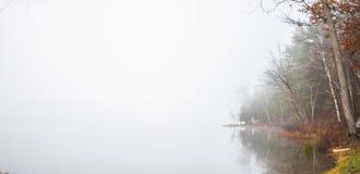Early morning fog on a lake near Ottawa, Ontario. Royalty Free Stock Photos