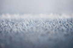 Frost background. Macro shot of frost as seen in the early morning Stock Photos