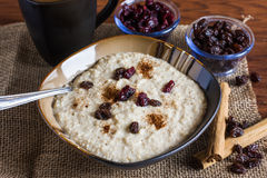 Early Morning Fruit and Oats Breakfast Royalty Free Stock Photo