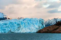 Early morning on the glacier Perito Moreno Royalty Free Stock Images