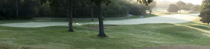 Early morning golf Royalty Free Stock Images