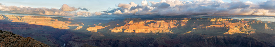 Early Morning Grand Canyon Panorama Royalty Free Stock Image