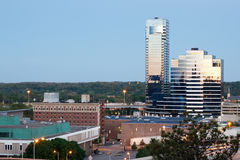 Early morning Grand Rapids Michigan. Early morning picture of bridgewater place in Grand Rapids Michigan Stock Photo