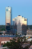 Early morning Grand Rapids Michigan. Early morning picture of bridgewater place in Grand Rapids Michigan Stock Photography