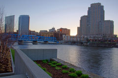 Early morning Grand Rapids Michigan royalty free stock image