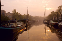 Early morning in Groningen Stock Images