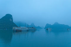 Early morning at Halong Bay. Vietnam Royalty Free Stock Photos