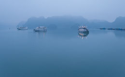 Early morning at Halong Bay. Vietnam Stock Images