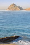 Early Morning Hand Fishing in Mazatlan Mexico Stock Photography