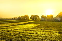 Early morning in Hessen stock image