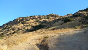 Moonscape in Chatsworth. Early morning hike through the rock lands in the San Fernando Valley Stock Images